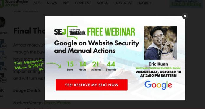 Free Webinar CTA